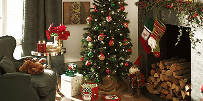 Ambiente navideño en la casa