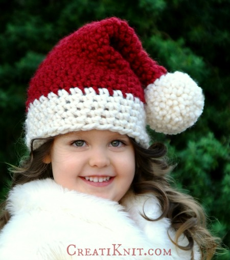 Gorro De Santa Tejido A Crochet