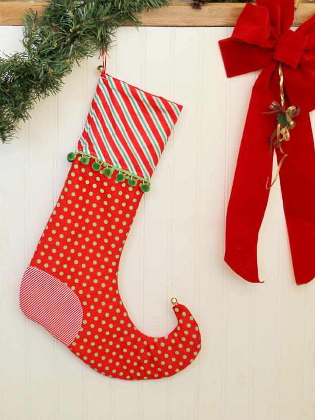 como hacer una bota navideña elfo paso a paso