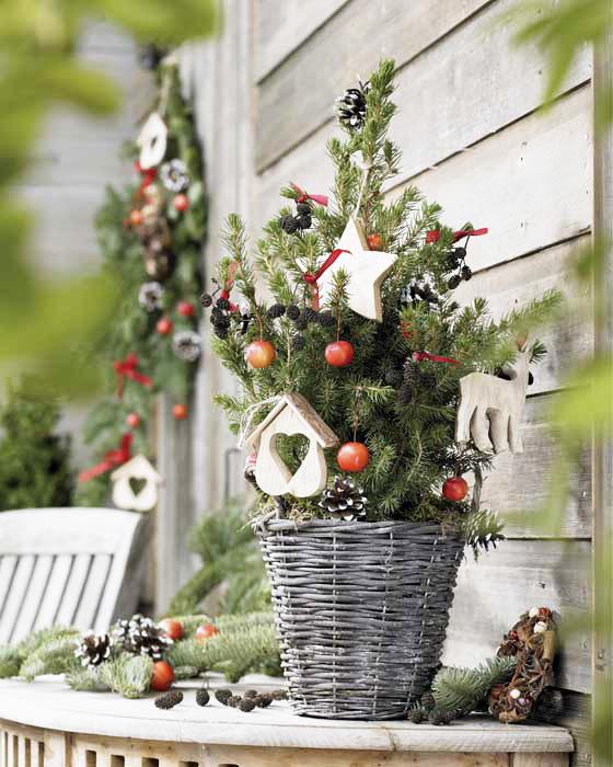Arreglos florales navideños arbol navidad