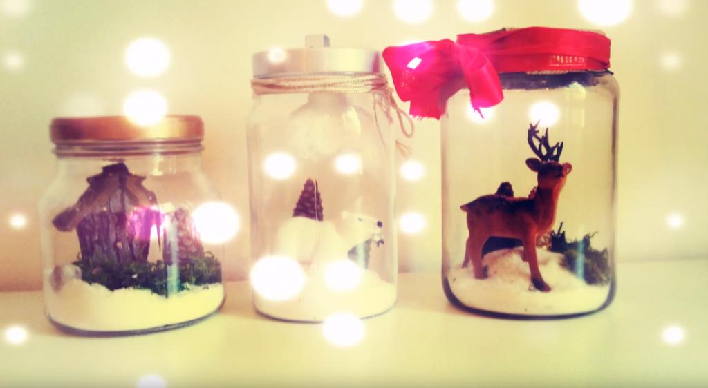 Como hacer decoraciones navide as dentro de frascos reciclados - Decoraciones navidenas manualidades ...