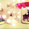 Como Hacer Decoraciones Navideñas Dentro De Frascos Reciclados