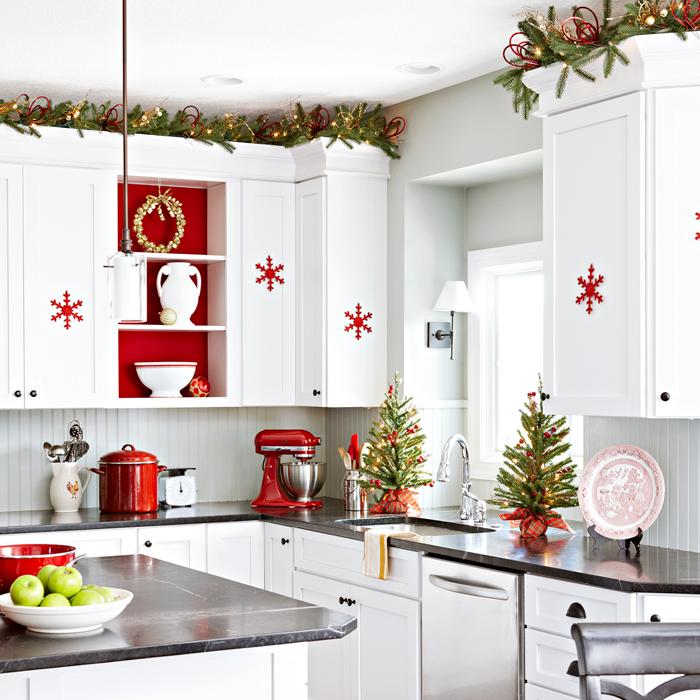 Decoraciónde la cocina en Navidad