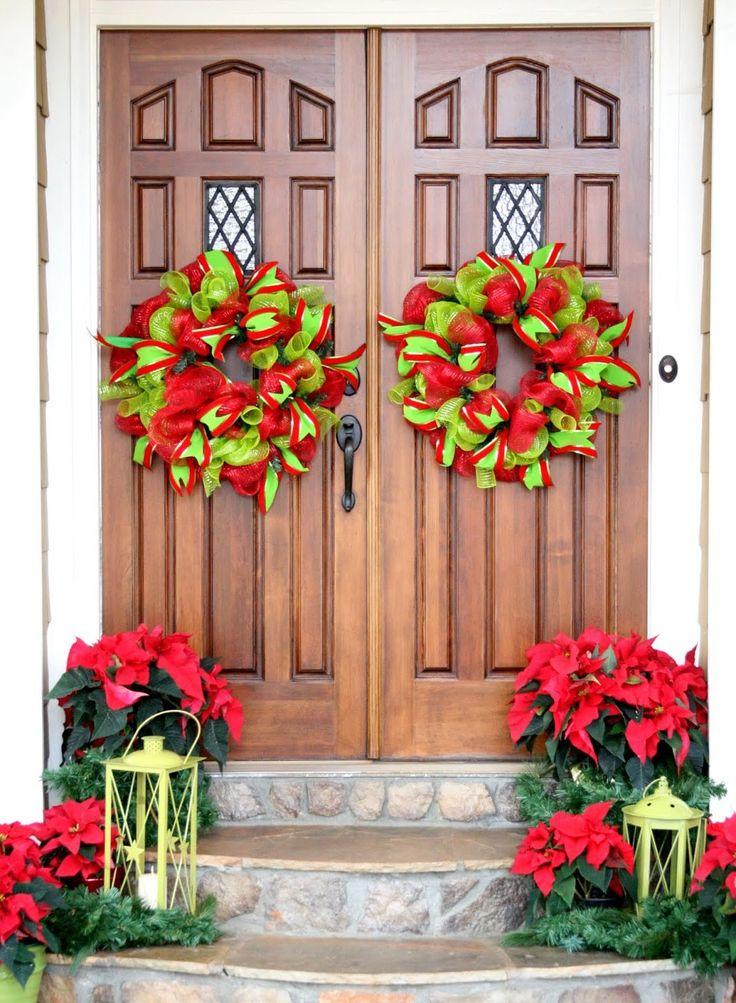 Decoraciones de Navidad Puerta Delantera