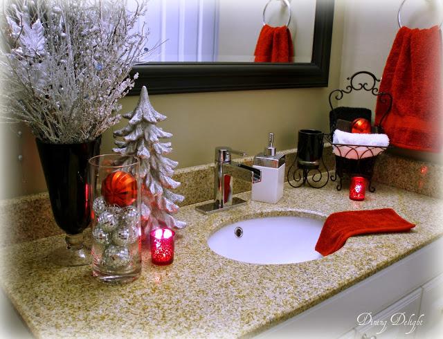 Imagenes con ideas de decoracion navideña baño