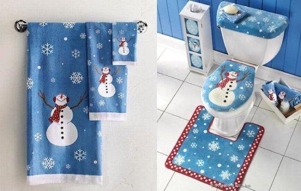 Imagenes decoracion baños navideños ideas