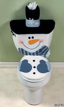 como decorar el baño en navidad
