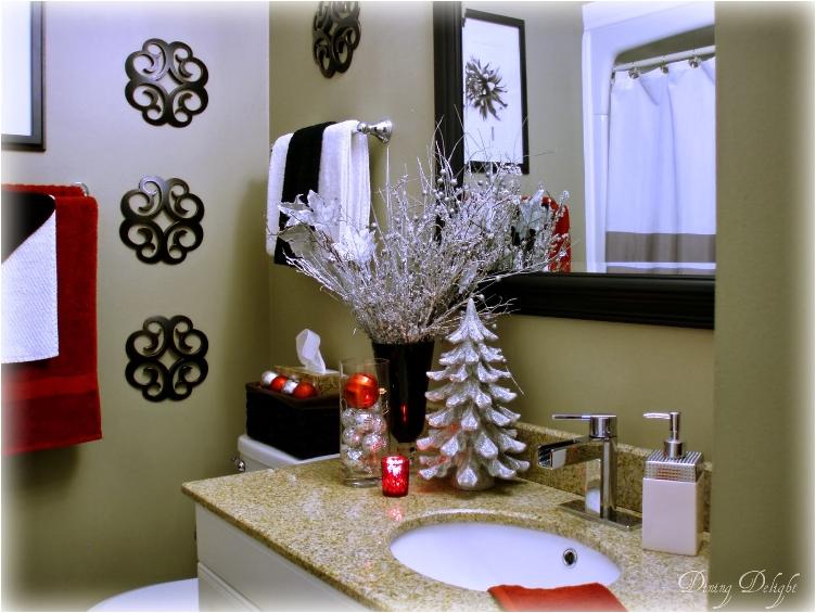 ideas sencillas para decorar en navidad tu baño