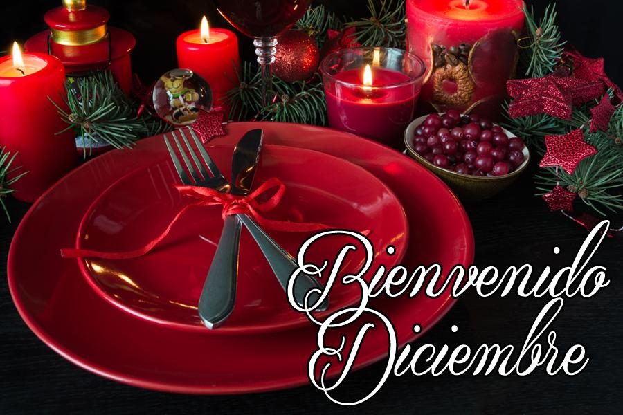 postales navideñas con mensaje de bienvenido diciembre