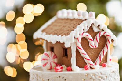 Casita para decoracion de pastel de navidad ideas