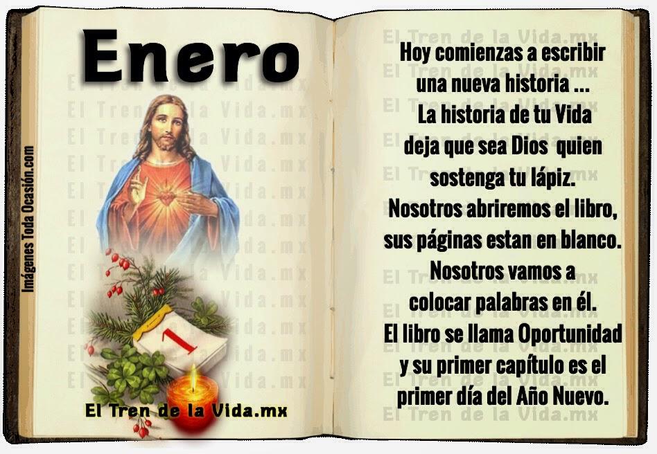 Imagen con mensaje Cristiano para Recibir Enero