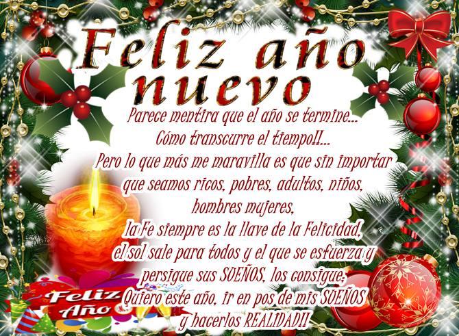 Mensaje de Feliz año nuevo para compartir en facebook