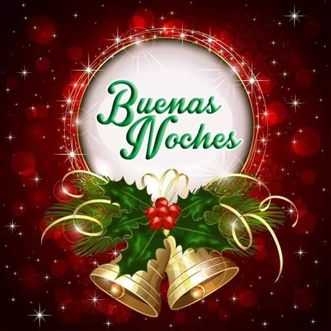 Postal navideña buenas noches para compartir