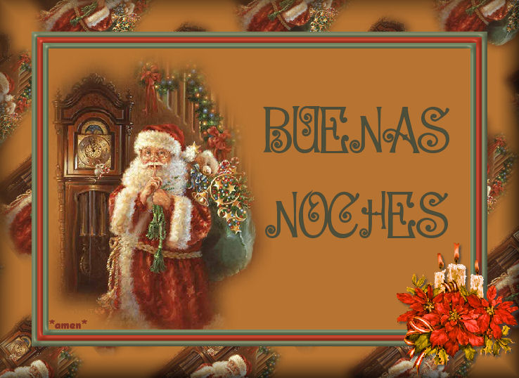 buenas noches en imagen navideña para regalar