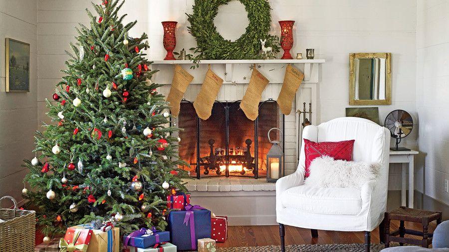 Fotos de salas decoradas en navidad