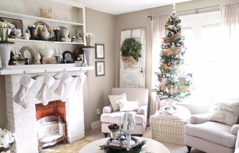 ideas de decoración del país sala de estar 21 Hermosas Formas De Decorar La Sala De Estar Para La Navidad