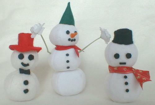 Cómo hacer muñecos de nieve con tela