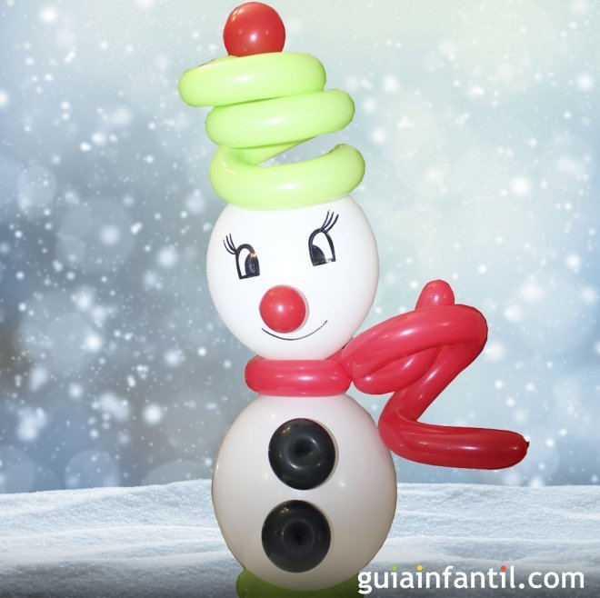 Muñeco de Nieve Con Globos